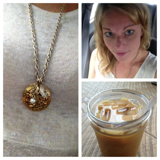 Coffee Date & Pendant Necklace